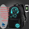 Школьный рюкзак для мальчиков и девочек, светящаяся анимация, USB зарядка
