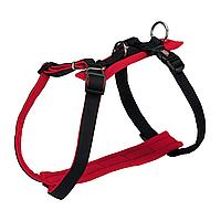 Шлея Trixie нейлоновая «Comfort Soft» S-M 42-60 см / 20 мм (красная/черная)