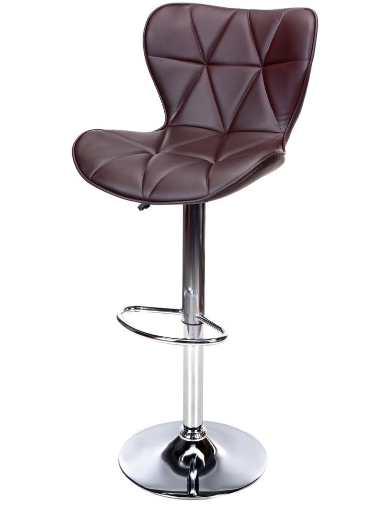 Барный стул Castel Royal с регулированием высоты и подставкой для ног Коричневый