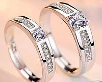 Обручальные серебряные кольца с фианитами!