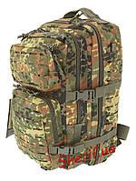 Штурмовой рюкзак тактический 36 литров большой  LASER CUT MIL-TEC Flecktarn, 14002721
