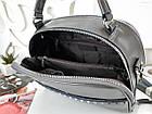 Женская сумка-клатч серого цвета, натуральная кожа, фото 4