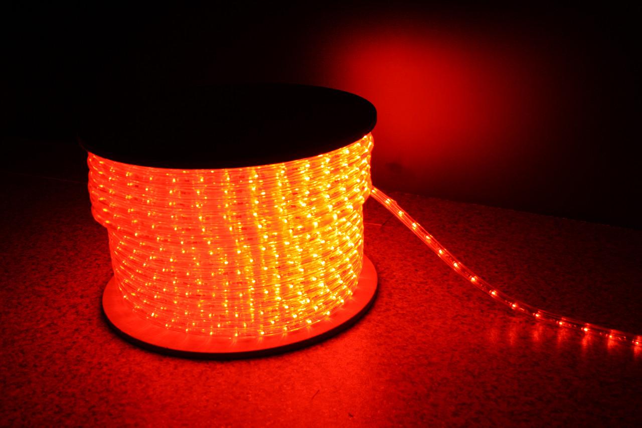 Уличный светодиодная лента Lumion Led Duralight 2-х жильная 240V. d=12мм. 2.77см 36диодив/м.100м/Цвет красный