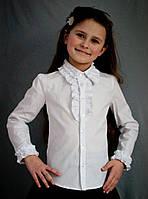 """Нарядная школьная блуза с длинным рукавом для девочки """"2010"""", фото 1"""