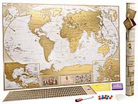 Скретч карта мира, My Map Antique edition, карта путешествий, ENG 1002948-Other-1