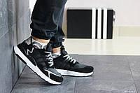 Модные кроссовки Adidas Nite Jogger Boost, черные с белым
