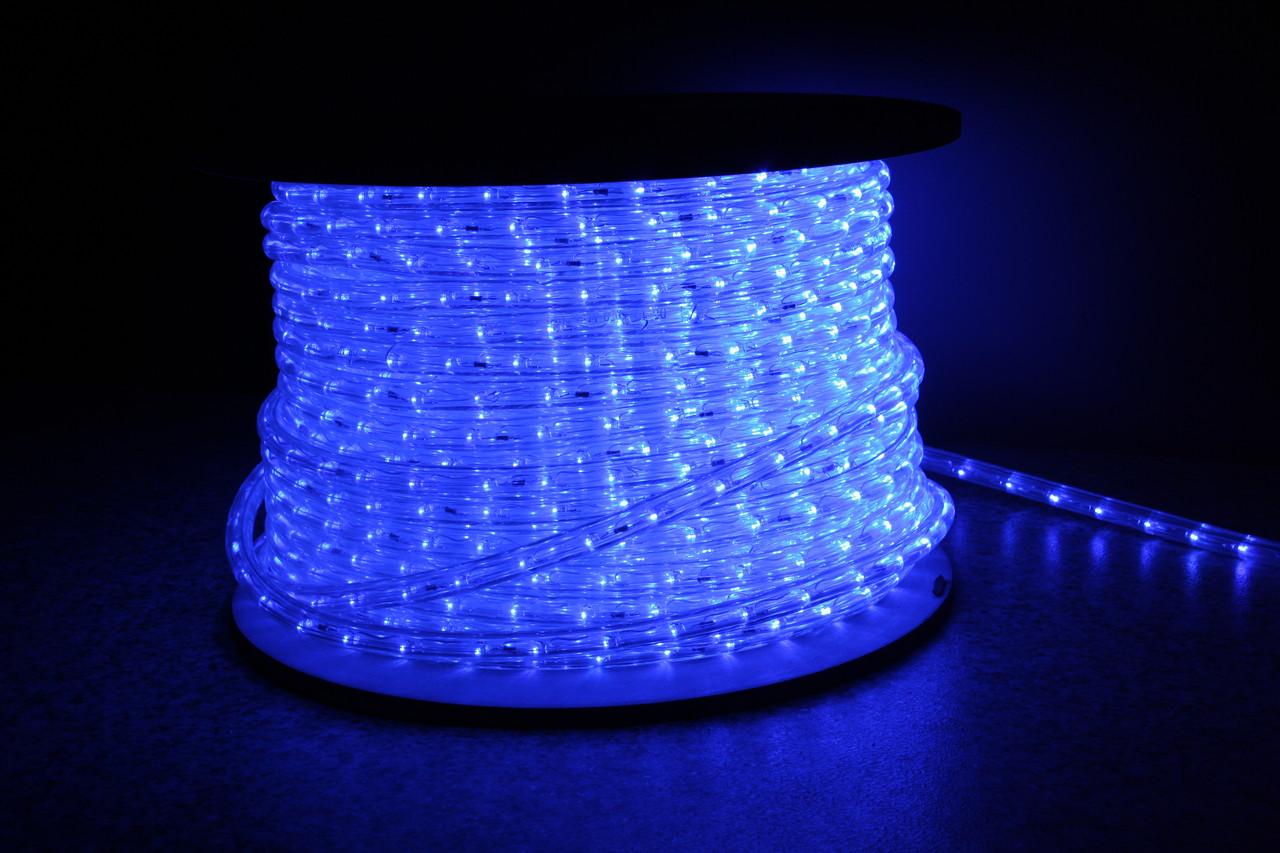 Уличный светодиодная лента Lumion Led Duralight 2-х жильная 240V. d=12мм. 2.77см 36диодив/м.100м/Цвет синий