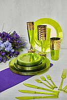 Набір виделок одноразових десертні 24 шт 130 мм кольорові Capital For People, фото 1