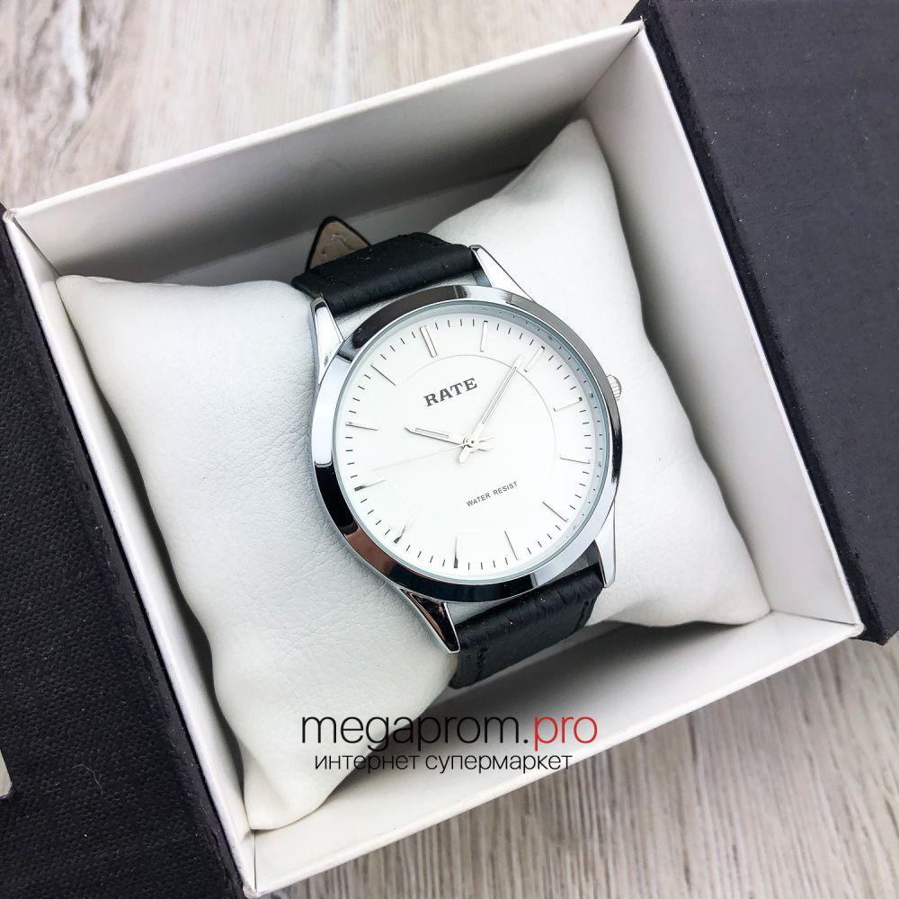 Часы Rate сталь с белым циферблатом (08169)