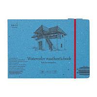 Альбом для акварели AUTHENTIC А5 (24,5*17,6см), 280г/м2, 12л, SMILTAINIS