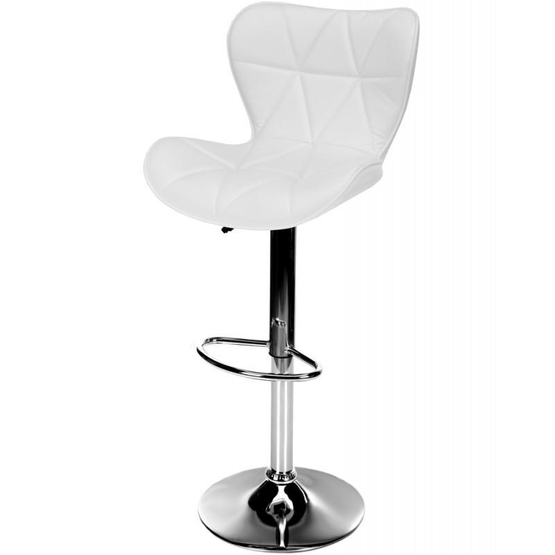 Барний стілець Castel Royal з регулюванням висоти і підставкою для ніг Білий