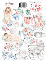 "Набор наклеек (стикеров) #075, ""Shabby baby girl redesign 1"" Фабрика Декора"