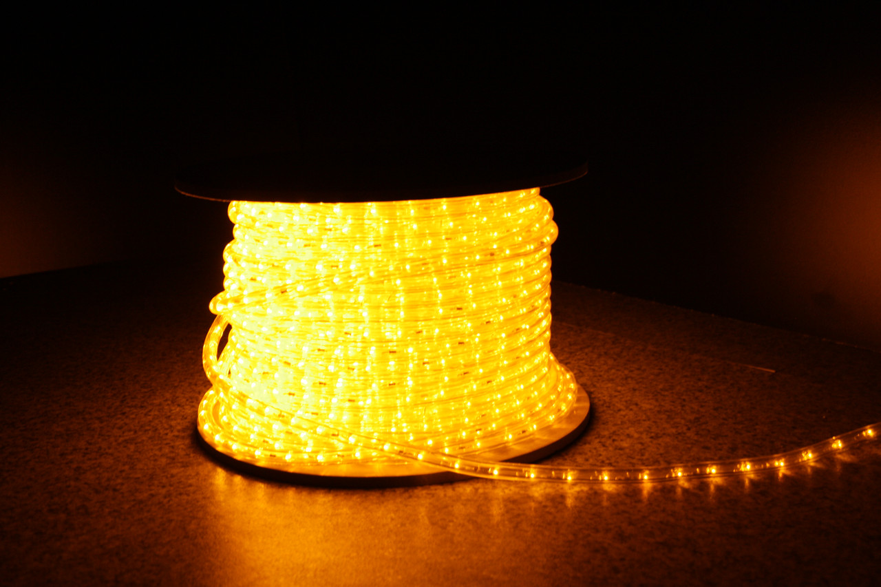 Уличный светодиодная лента Lumion Led Duralight 2-х жильная 240V. d=12мм. 2.77см 36диодив/м.100м/Цвет желтый
