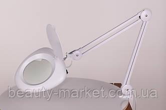 Лампа-лупа настольная 6016 LED на 5 диоптрий черная