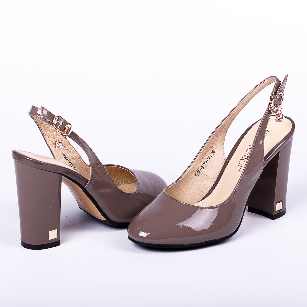 Роскошные туфли серого цвета Blue Tempt