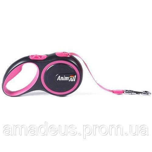 Поводок-Рулетка Animall Для Собак Весом До 15 Кг, 3 М, Розовый