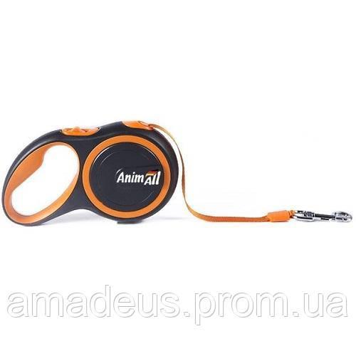 Поводок-Рулетка Animall Для Собак Весом До 25 Кг, 5 М, Оранжевый