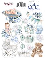 "Набор наклеек (стикеров) #072, ""Shabby baby boy redesign""  Фабрика Декора"