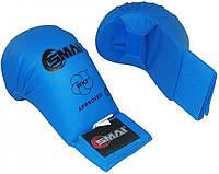 Перчатки для каратэ Smai WKF Approved без большого пальца, синие, фото 1