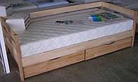 Кровать Ева с ящиками 80 х 190 см (бук натуральный)