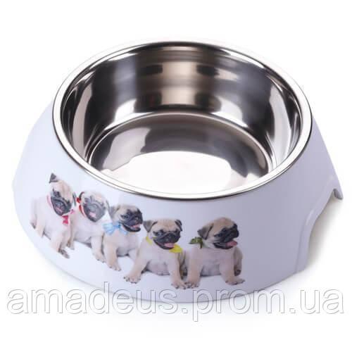 Пластиковая Миска Animall С Металлической Вставкой Для Собак, 700 Мл