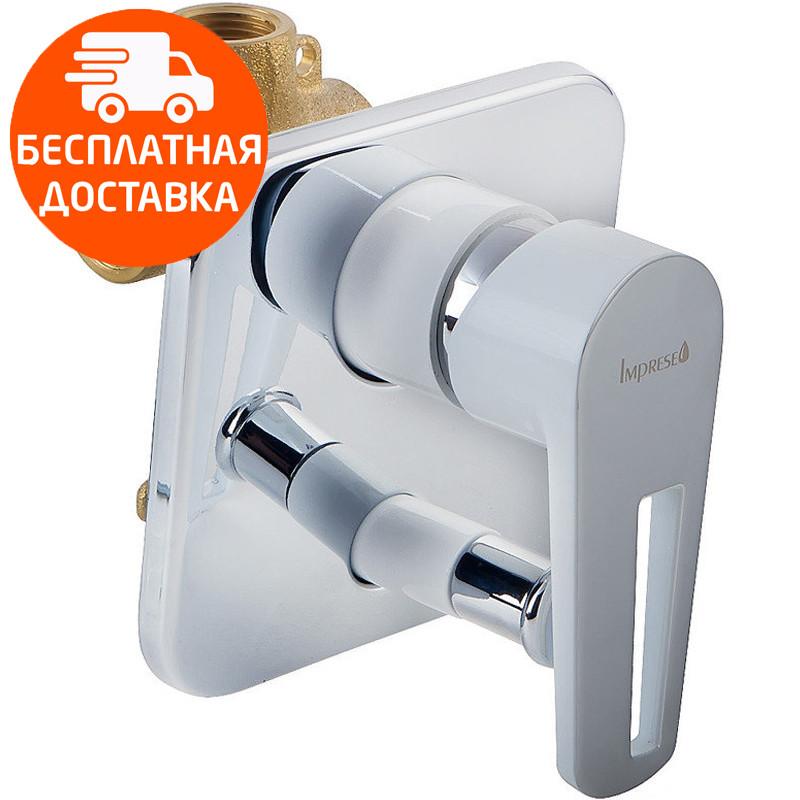 Смеситель скрытого монтажа переключателем Imprese Breclav VR-10245WZ хром/белый
