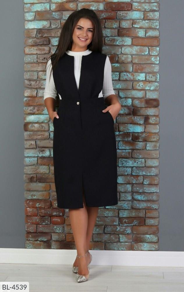 Стильное платье   (размеры 48-58) 0206-76