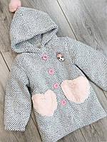 Детское демисезонное пальто для девочки  размер 100,110,130,140 на   лет