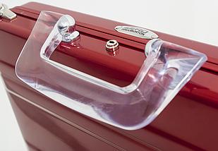 Оригинальный женский алюминиевый кейс EXPRESSIONS Zero Halliburton SLA-RD красный, фото 3