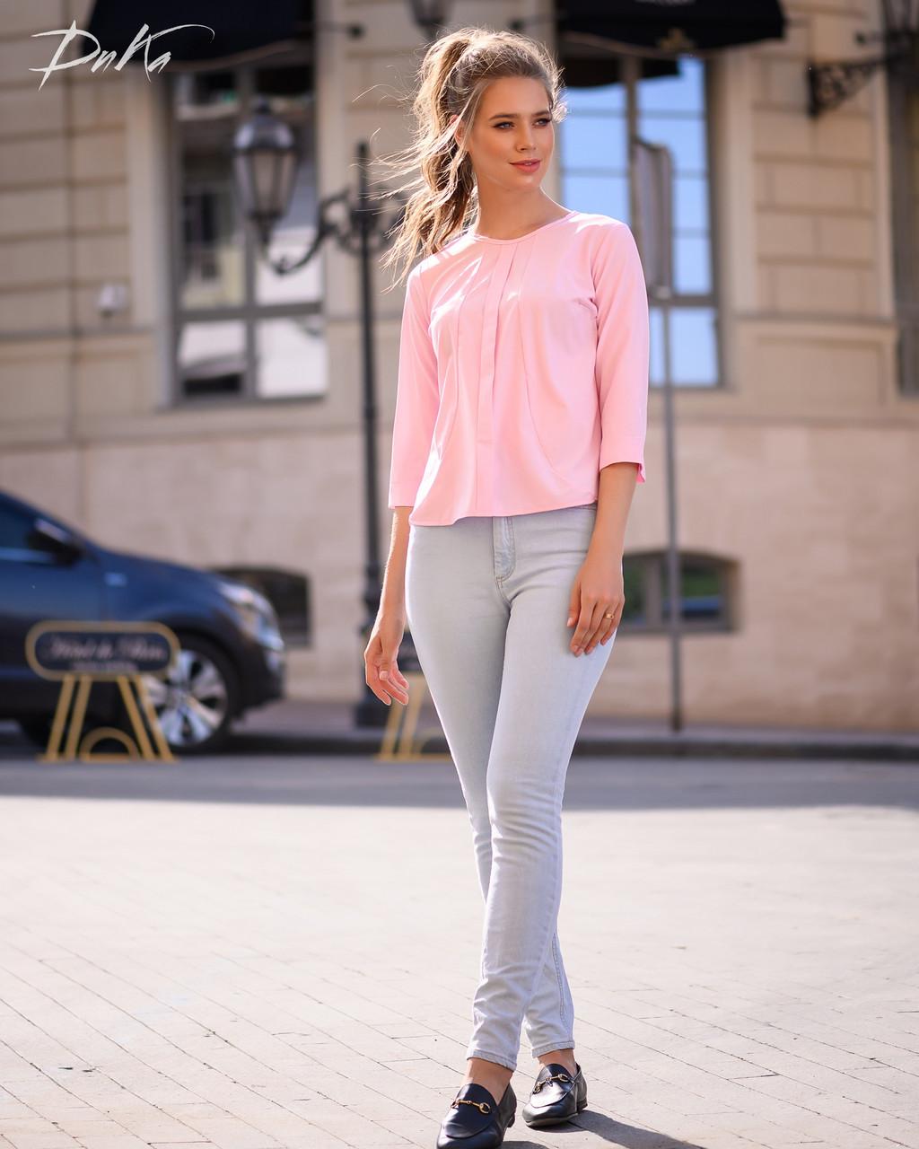 Привлекательная блуза в однотонной расцветке