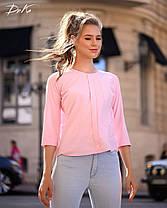 Привлекательная блуза в однотонной расцветке, фото 2