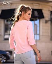 Привлекательная блуза в однотонной расцветке, фото 3