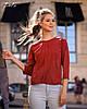 Привлекательная блуза в однотонной расцветке, фото 4