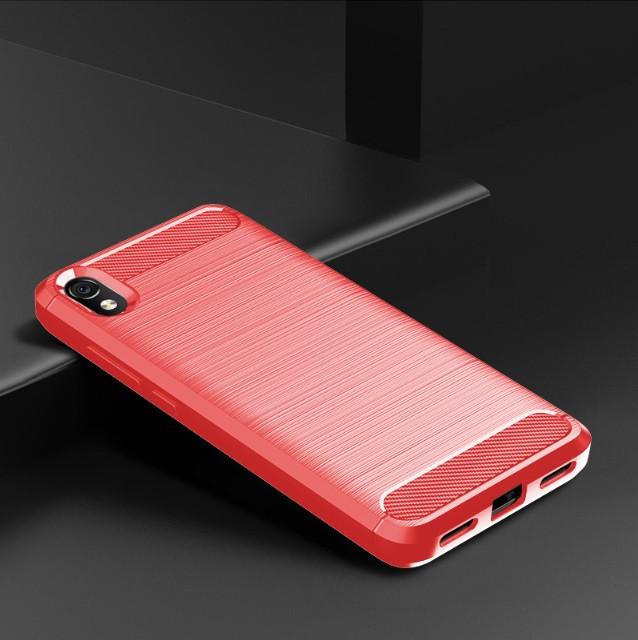 Чехол Carbon для XIaomi Redmi 7A Красный