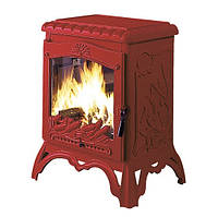 Печь Invicta Chambord (красная ємаль)10 кВт