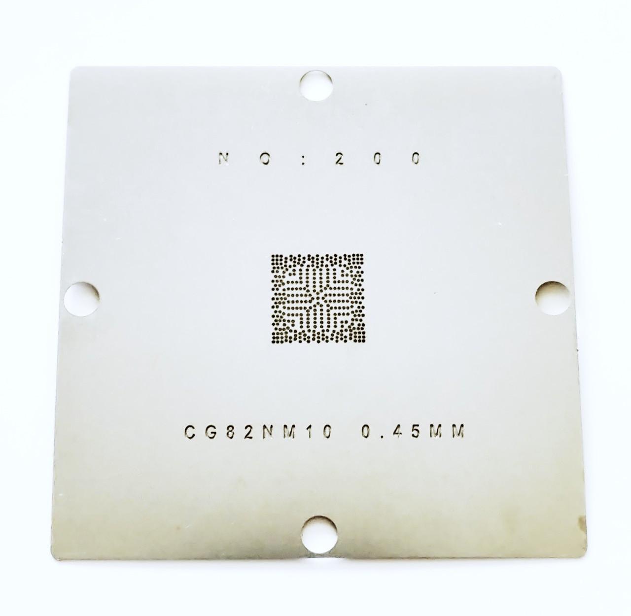 Трафарет BGA CG82NM10. Шар 0,45 мм