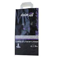 Бентонитовый Наполнитель Animall Для Котов, С Ароматом Лаванды, 5 Кг