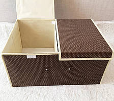 Короб для одежды на 2 секции Горох