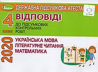 Відповіді та творчі завдання. ДПА 2019 для учнів 4 класу  (для шкіл з  українською мовою навчання)