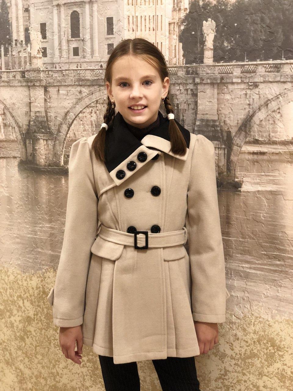 Кашемировое пальто Валентина (молоко), 128-156 рост