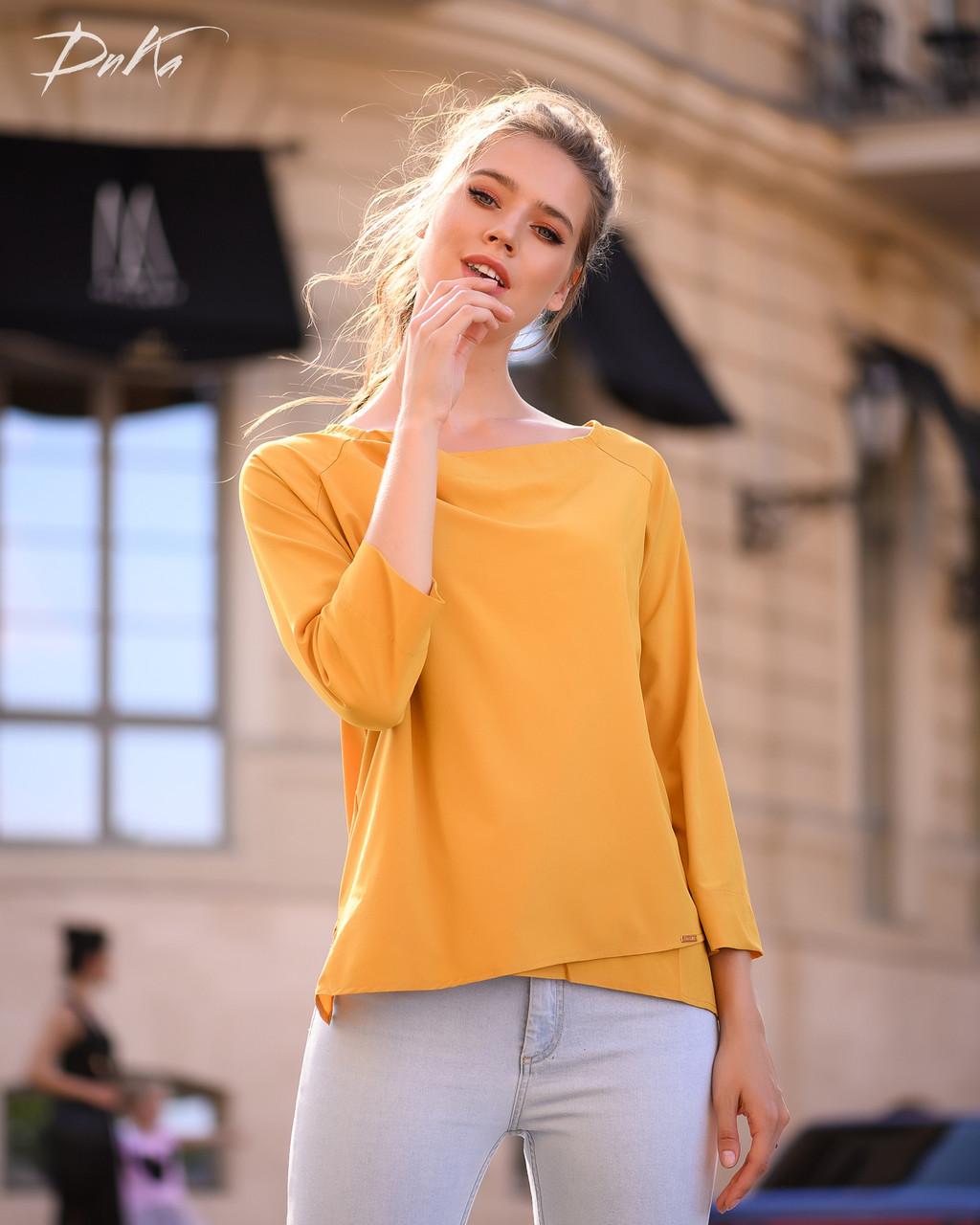 Интересная блуза прямого кроя