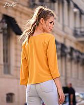 Интересная блуза прямого кроя, фото 3
