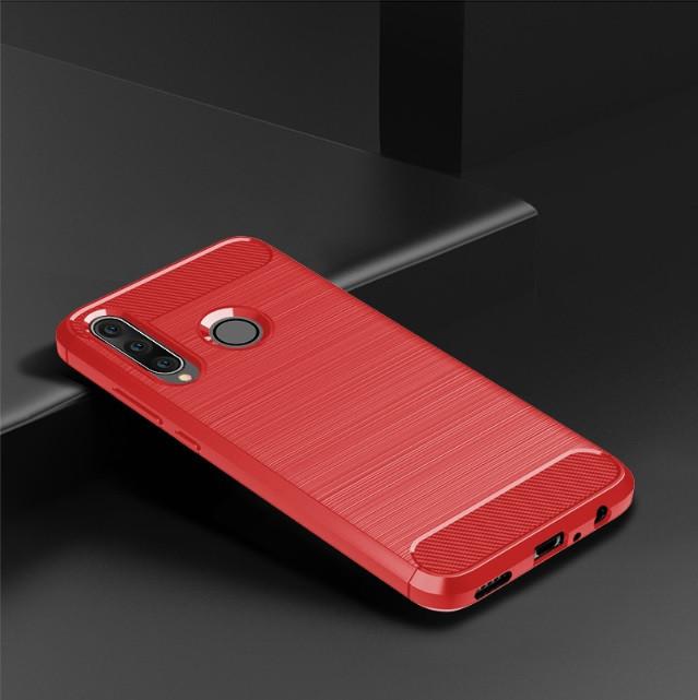 Чехол Carbon для Huawei P30 Lite  красный