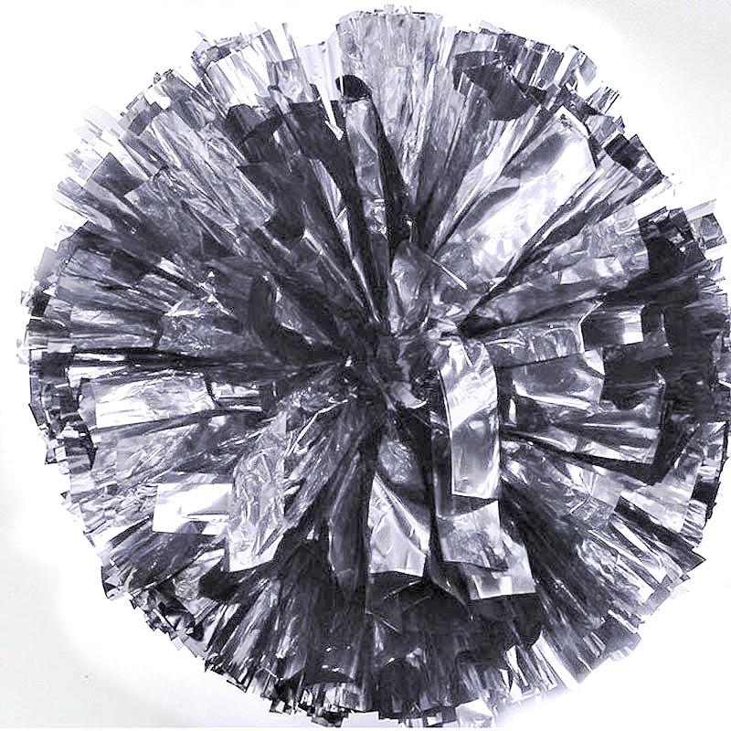 Помпон черлидера Pom Poms (серебро) 15х9см