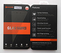 Защитное стекло черное Mocolo для Meizu M6 с белой рамкой