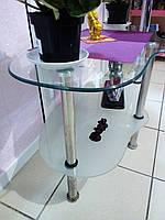 Столик стеклянный 2 полки   БУ