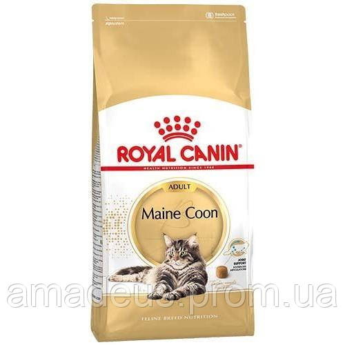 Сухой Корм Royal Canin Maine Coon Adult Для Котов Породы Мейн-Кун От 15 Месяцев, 4 Кг