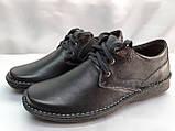 Кожаные демисезонные полуботинки на шнурках Detta, фото 2