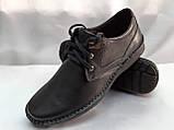 Кожаные демисезонные полуботинки на шнурках Detta, фото 3
