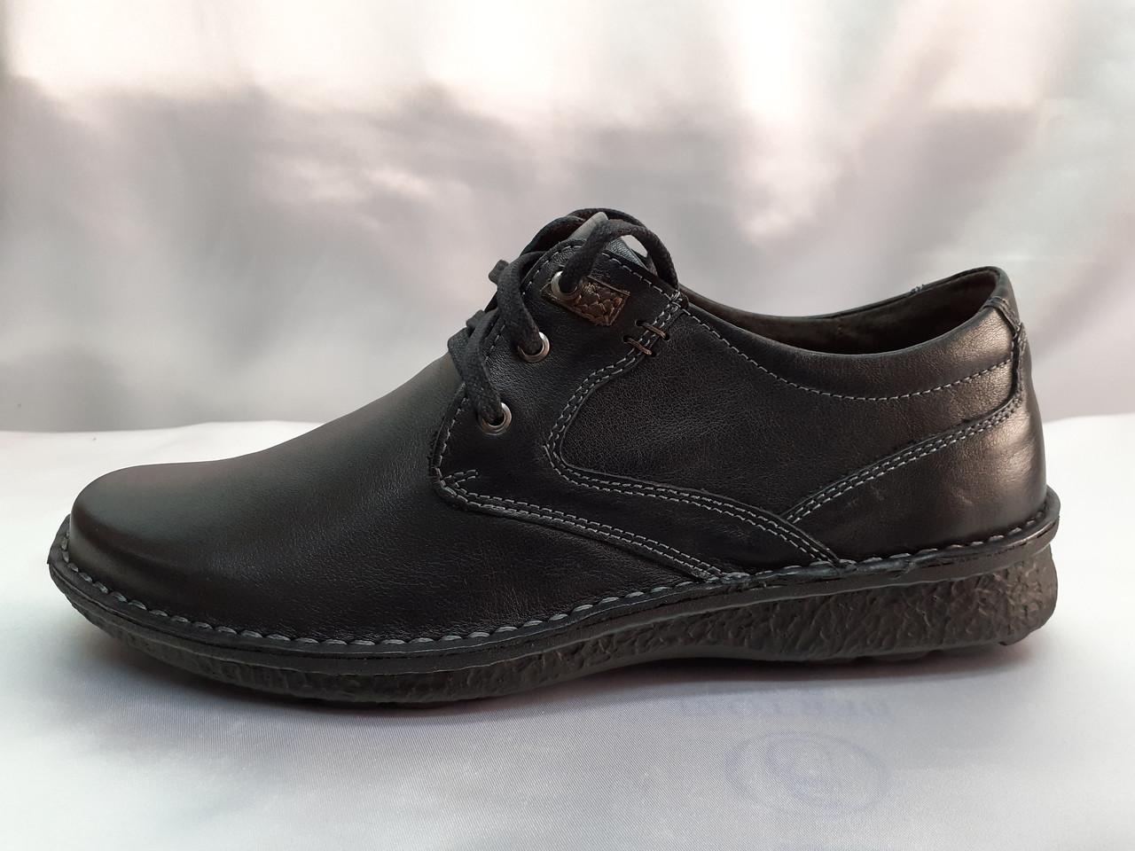 Кожаные демисезонные полуботинки на шнурках Detta